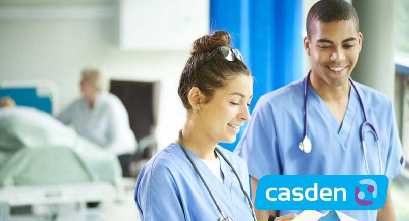 deux infirmiers sociétaires de la CASDEN