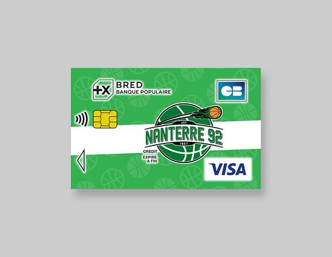 Lancement de la carte BRED Visa aux couleurs du Club de Basket Nanterre 92