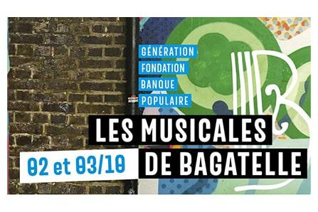 Les Musicales de Bagatelle, les 2 et 3 octobre à Paris