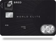 Carte World Elite.Carte World Elite Mastercard Bred