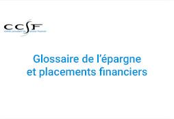 visuel glossaire de épargne et placements financiers