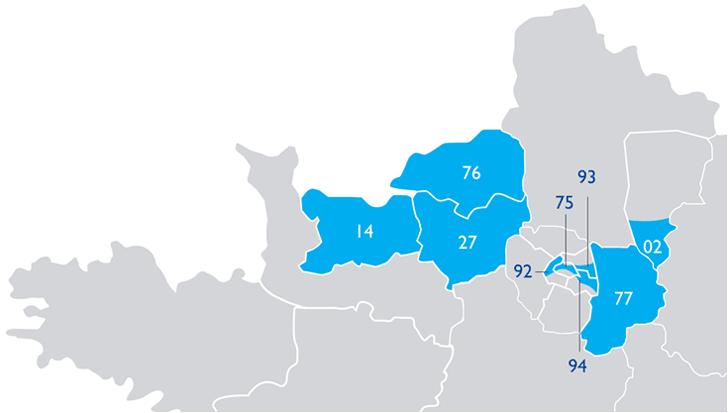 carte des implantations BRED en métropole